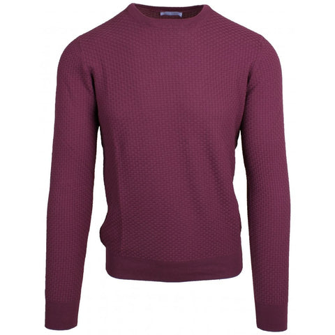 Fresh Cotton Berry Basket Weave Crewneck