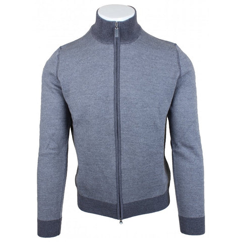 Grey Birdseye Weave Full Zip
