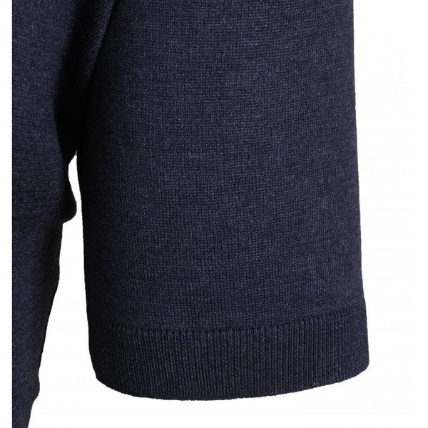 Navy Silk Knitted Polo