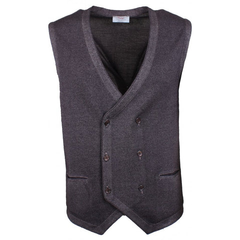 Gran Sasso Vintage Yarn Double Breasted Waistcoat