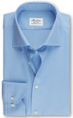 Fitted Body Houndstooth Shirt