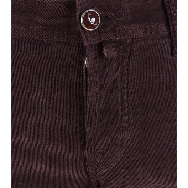 622 Burgundy Stretch Cord Trouser