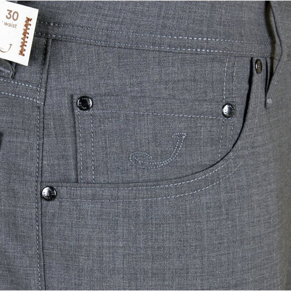 622 Grey Stretch Wool Trouser