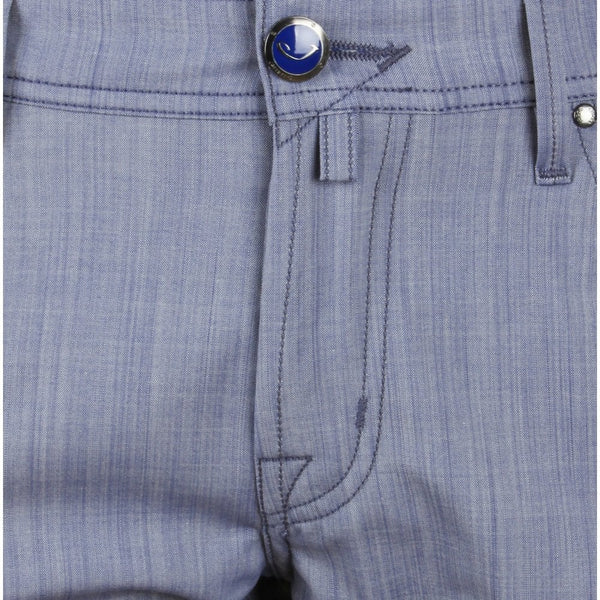 622 Sky Blue Stretch Wool Trouser
