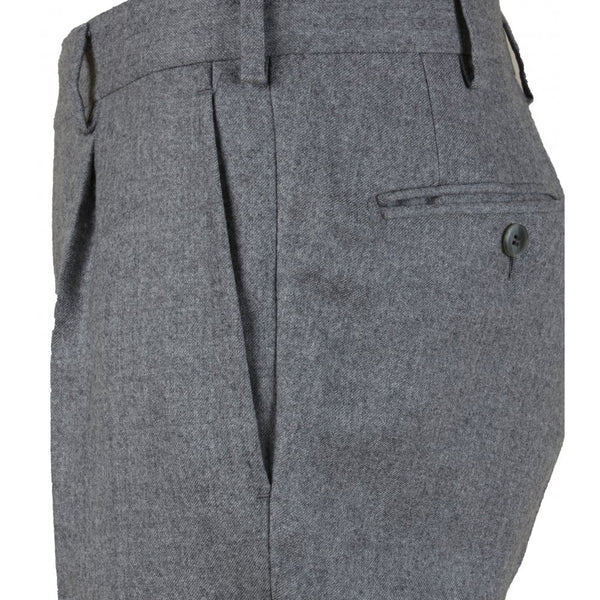 Grey Lightweight Flannel Trouser