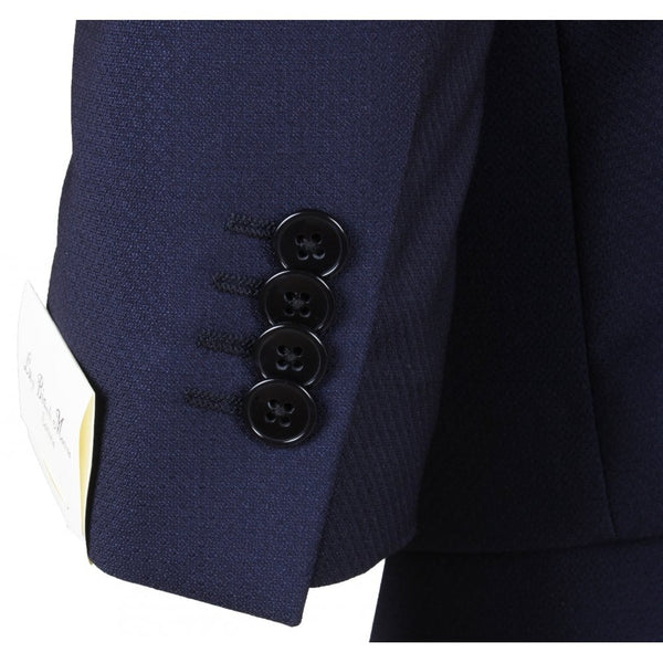 Navy Diamond Weave Suit