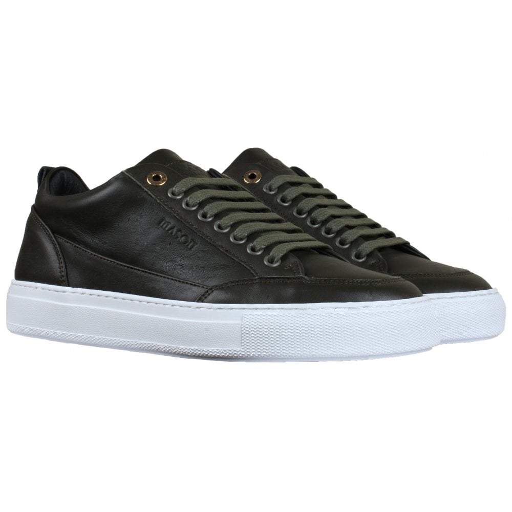 TIA Forest Green Leather Sneaker