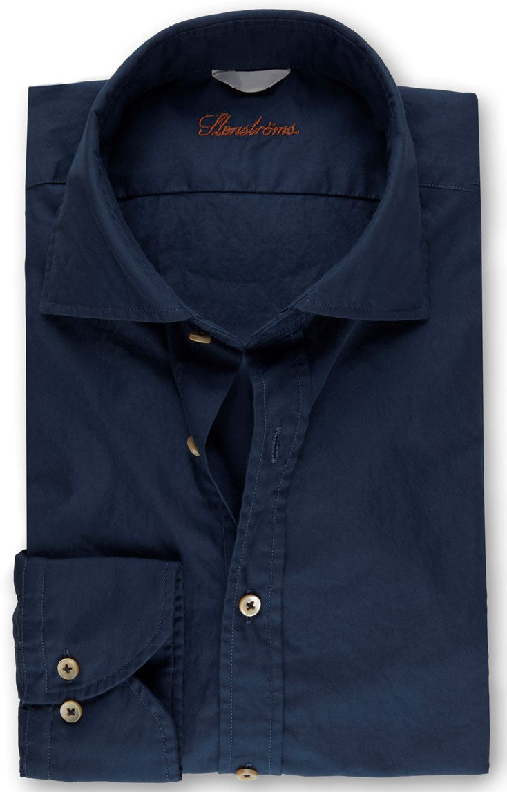 Navy Casual Fitted Body Shirt