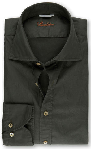 Olive Casual Fitted Body Shirt
