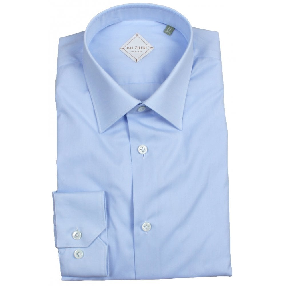 Blue Poplin Shirt (Slim Fit)