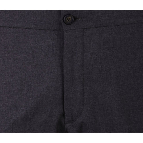 Brown Half Elastic Waistband Trouser