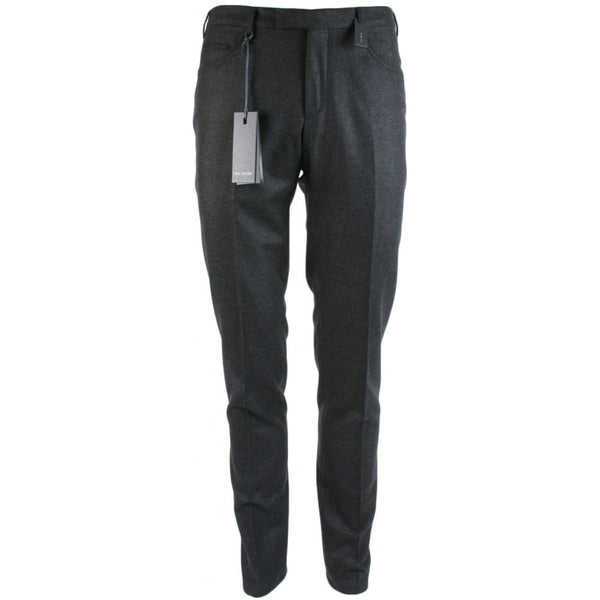 Slim Fit Charcoal Wool Formal Trouser