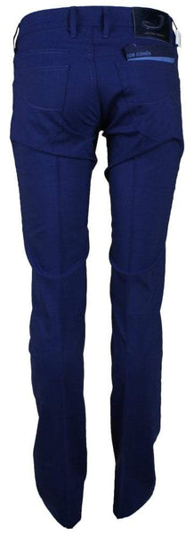 622 Royal Blue Stretch Wool Trouser