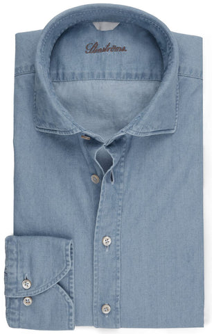 Light Blue Denim Shirt Fitted Body