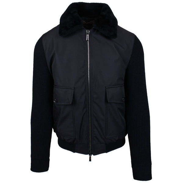 Teseo Black Bomber Jacket