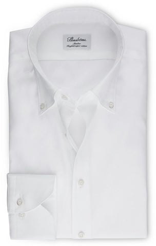 Stenstroms White Button Down Oxford Slimline