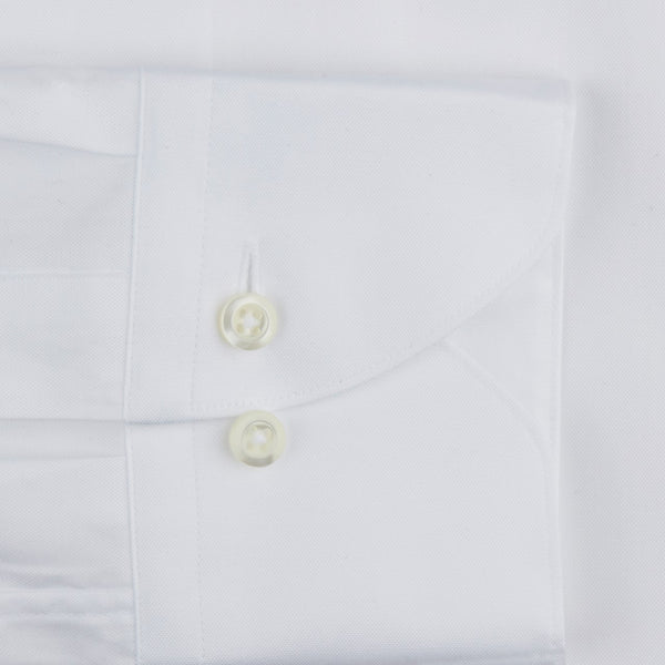 White Button Down Oxford Fitted Body