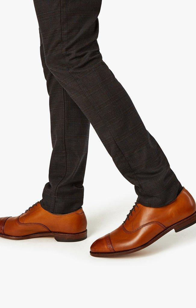 34 Heritage Cool Slim Leg Pants In Mocha Checked-The Trendy Walrus