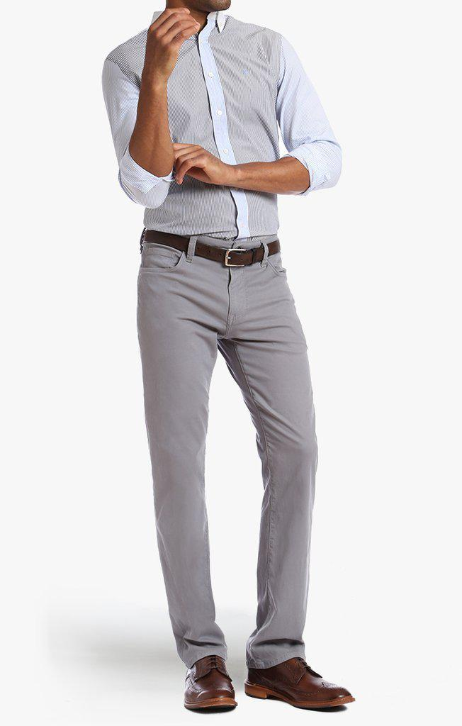 34 Heritage Courage Straight Leg Pants in Grey Fine Twill-The Trendy Walrus