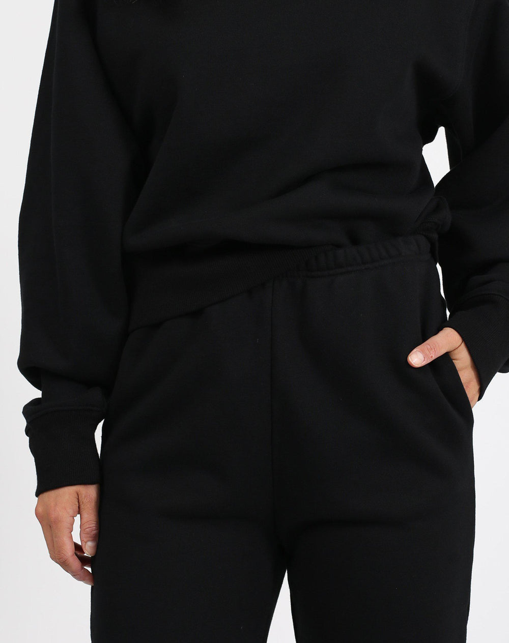 Brunette the Label Best Friend High Rise Jogger in Black-The Trendy Walrus