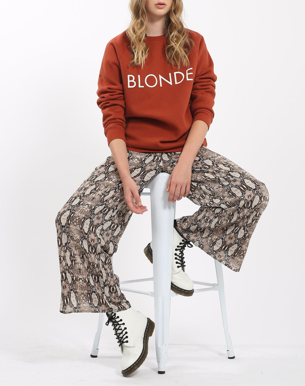"Brunette The Label ""Blonde"" Classic in Rust-The Trendy Walrus"