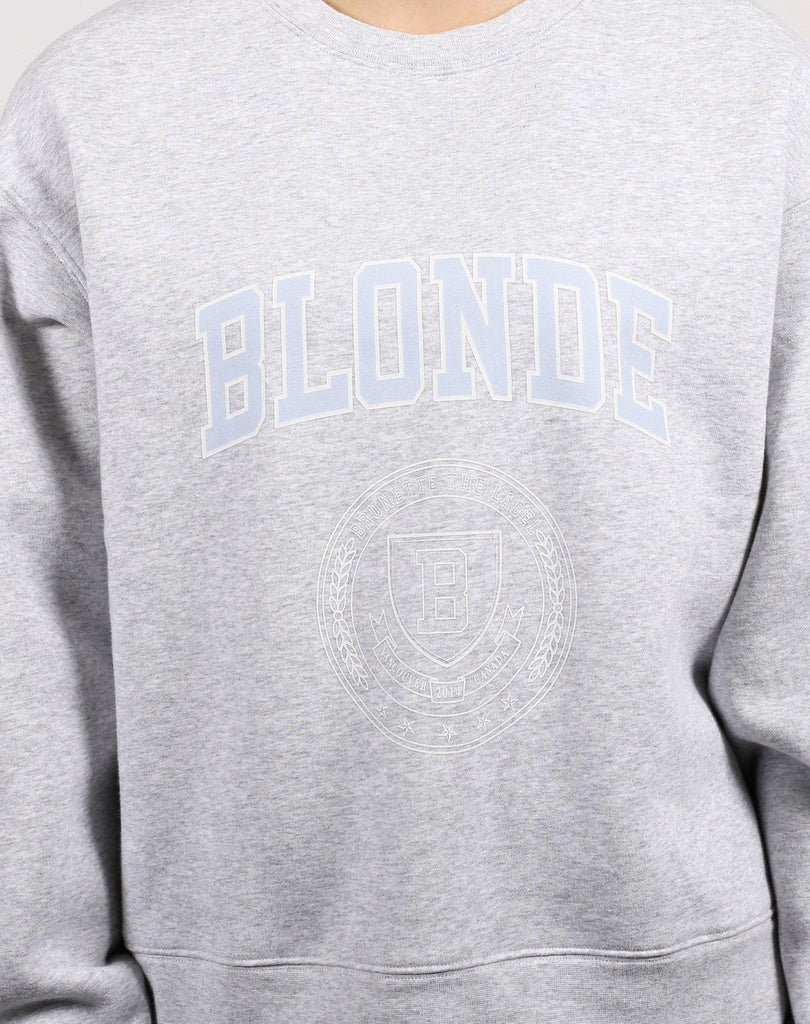 "Brunette the Label ""Blonde Varsity"" Step Sister Crewneck Sweatshirt-The Trendy Walrus"