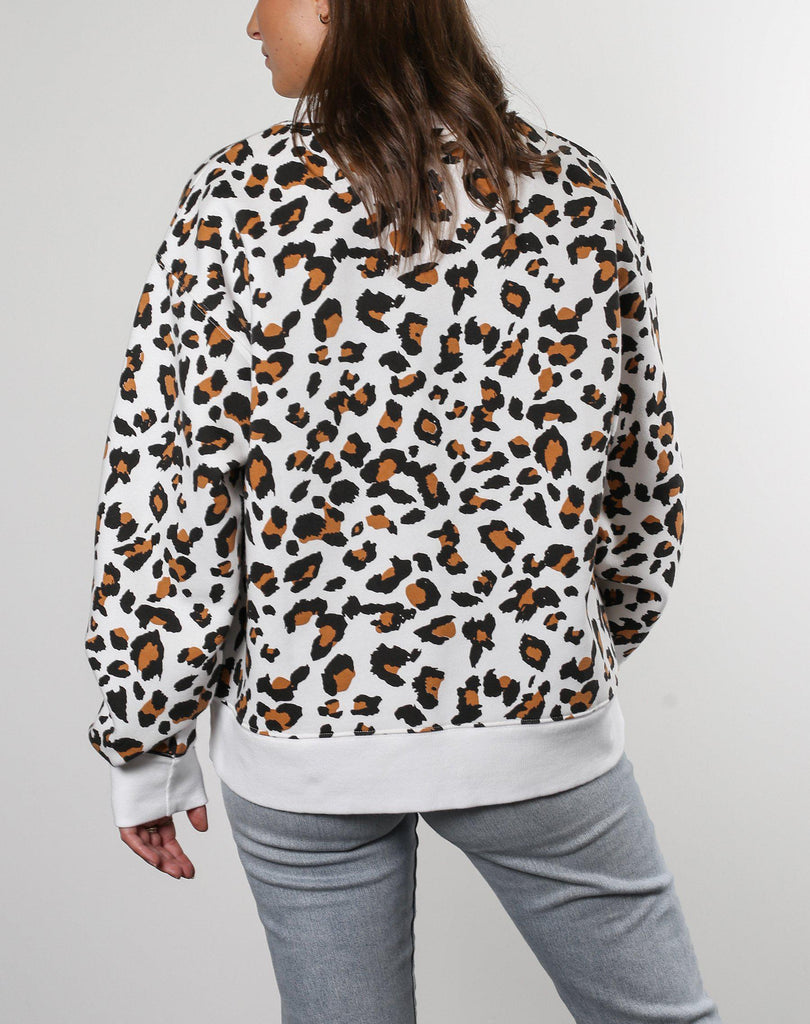 Brunette The Label Brunette Sweatshirt in Leopard Print-The Trendy Walrus