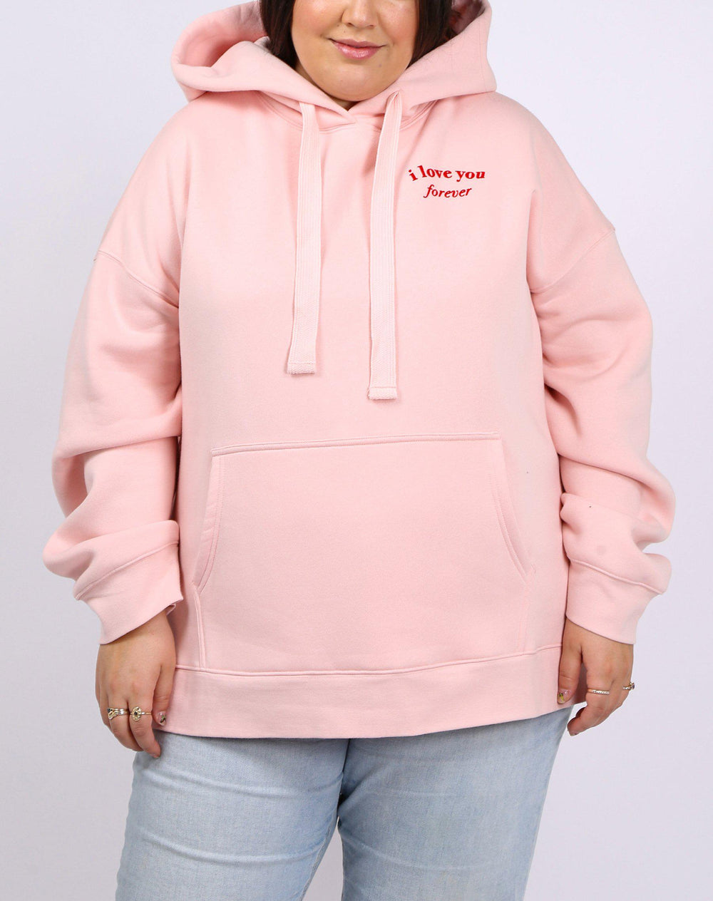 Brunette the Label I Love You Big Sister Hoodie in Cotton Candy-The Trendy Walrus