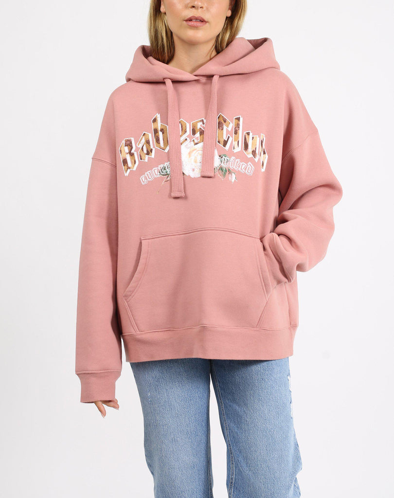 Brunette the Label Leopard Babes Club Big Sister Hoodie-The Trendy Walrus
