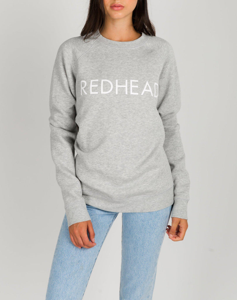 Brunette The Label Redhead Crew Neck Sweatshirt in Gray-The Trendy Walrus