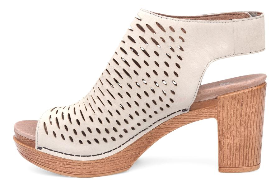 Dansko Danae in Oyster Milled Nubuck-The Trendy Walrus