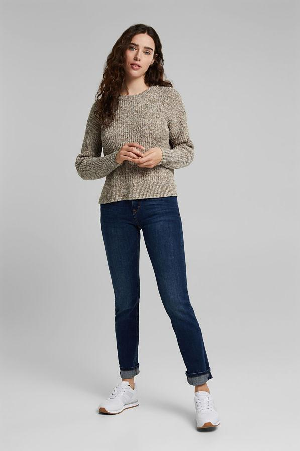 Esprit Cotton Blend Rib Sweater in Camel-The Trendy Walrus
