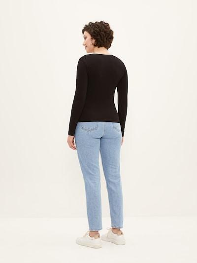 Frank & Oak Cotton Wrap Top in Black-The Trendy Walrus