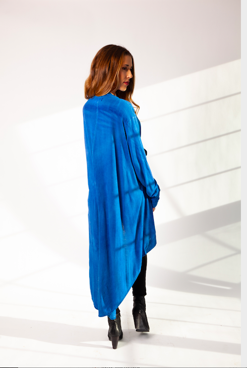 IMA Wear High Lo Duster in Sky Blue-The Trendy Walrus
