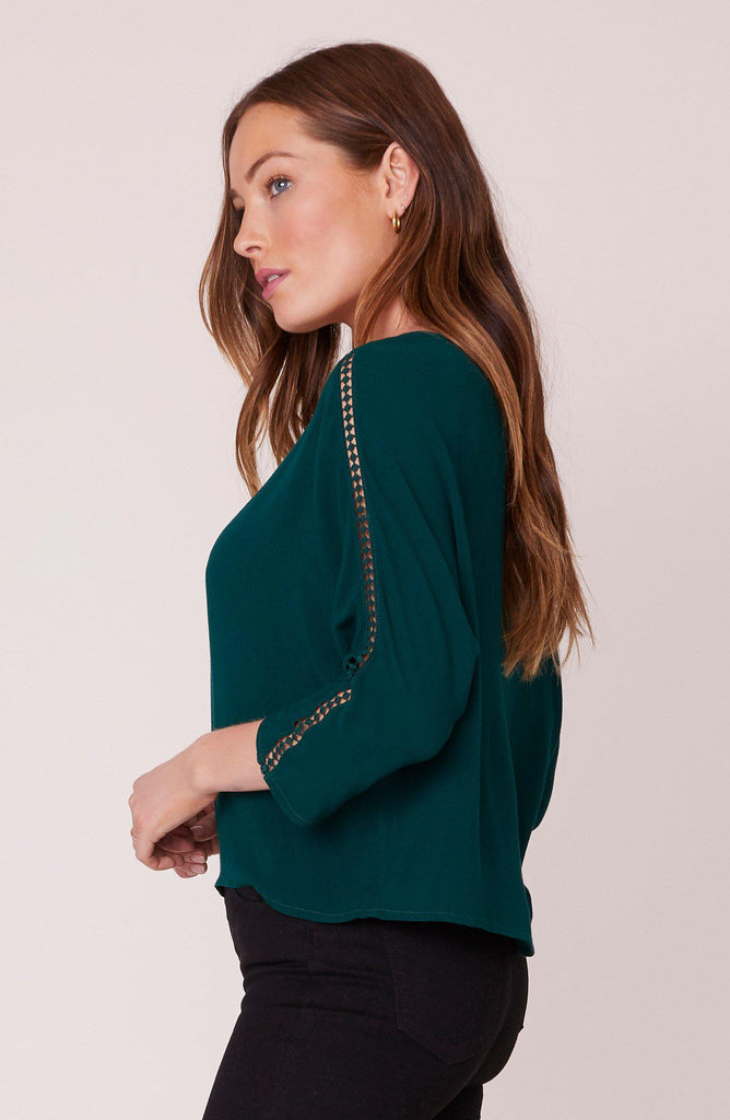 Jack Fancy Free Top with Trim Inset-The Trendy Walrus