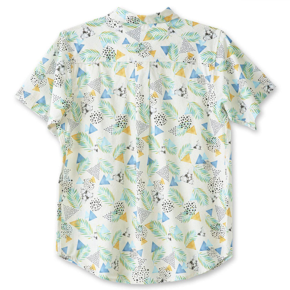 Kavu Girl Party Blue Mirage Buttonup Shirt-The Trendy Walrus