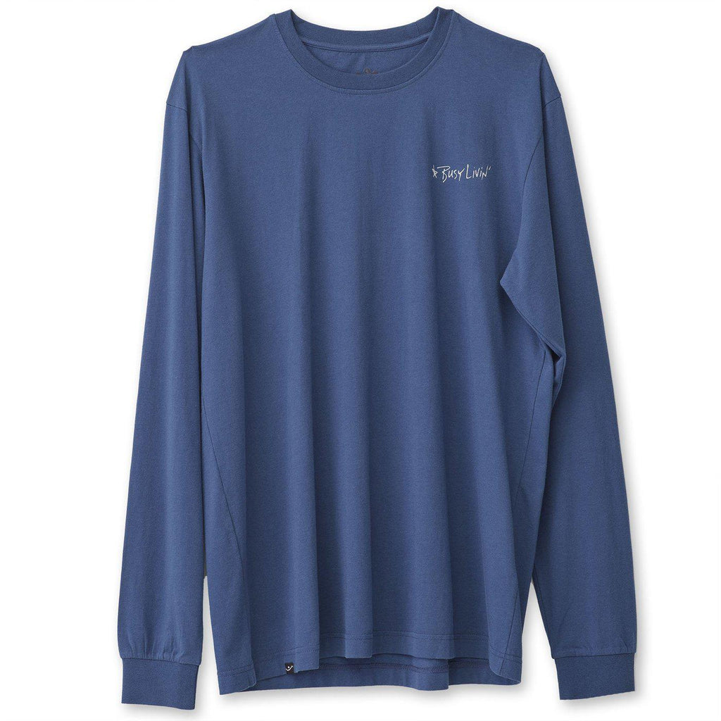 Kavu Longsleeve Busy Livin Tee in Midnight-The Trendy Walrus