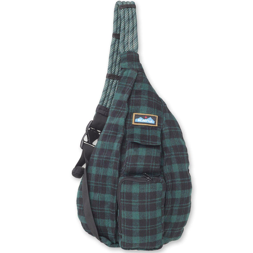 Kavu Plaid Rope Bag in Hunter-The Trendy Walrus