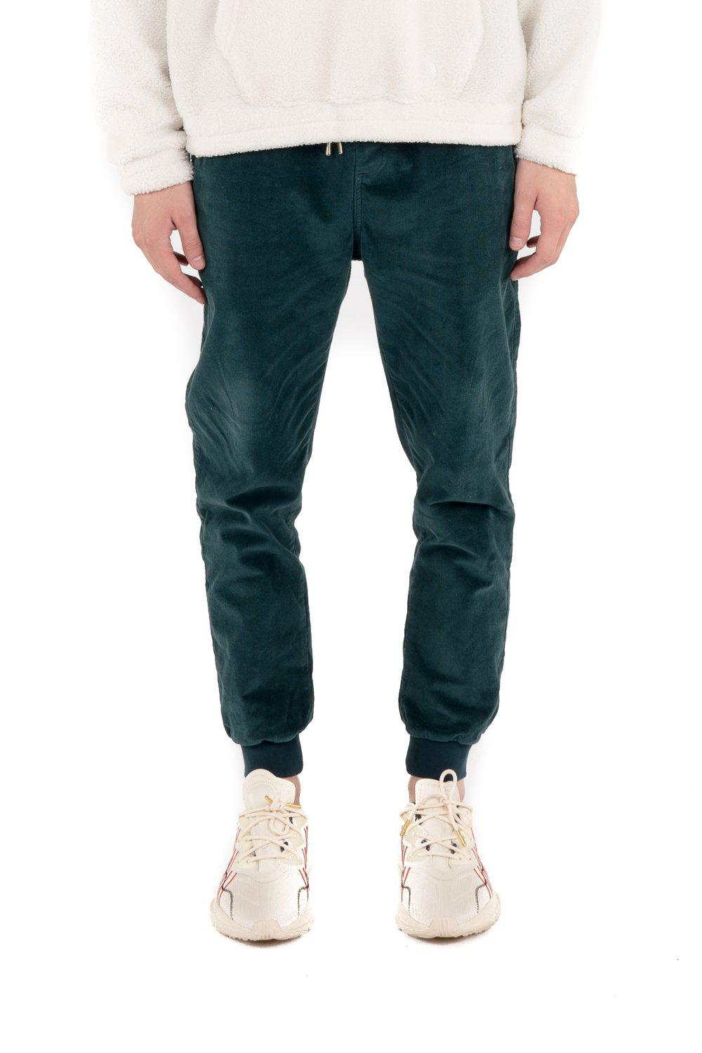 Kuwalla Tee Corduroy Jogger in Teal-The Trendy Walrus