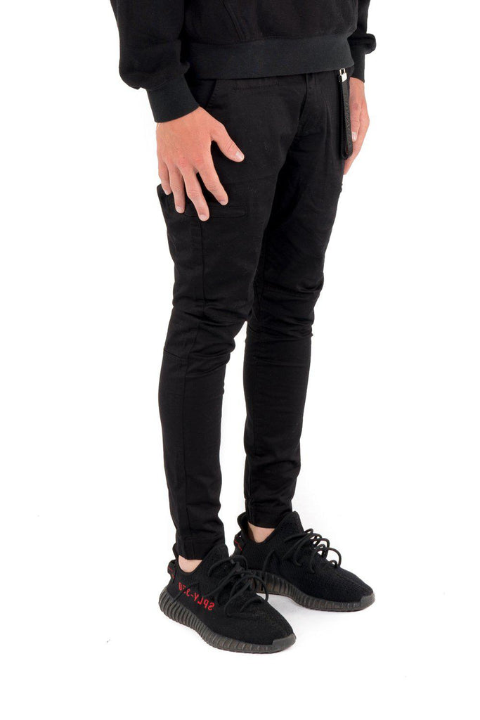 Kuwalla Tee Hybrid Chino in Black-The Trendy Walrus