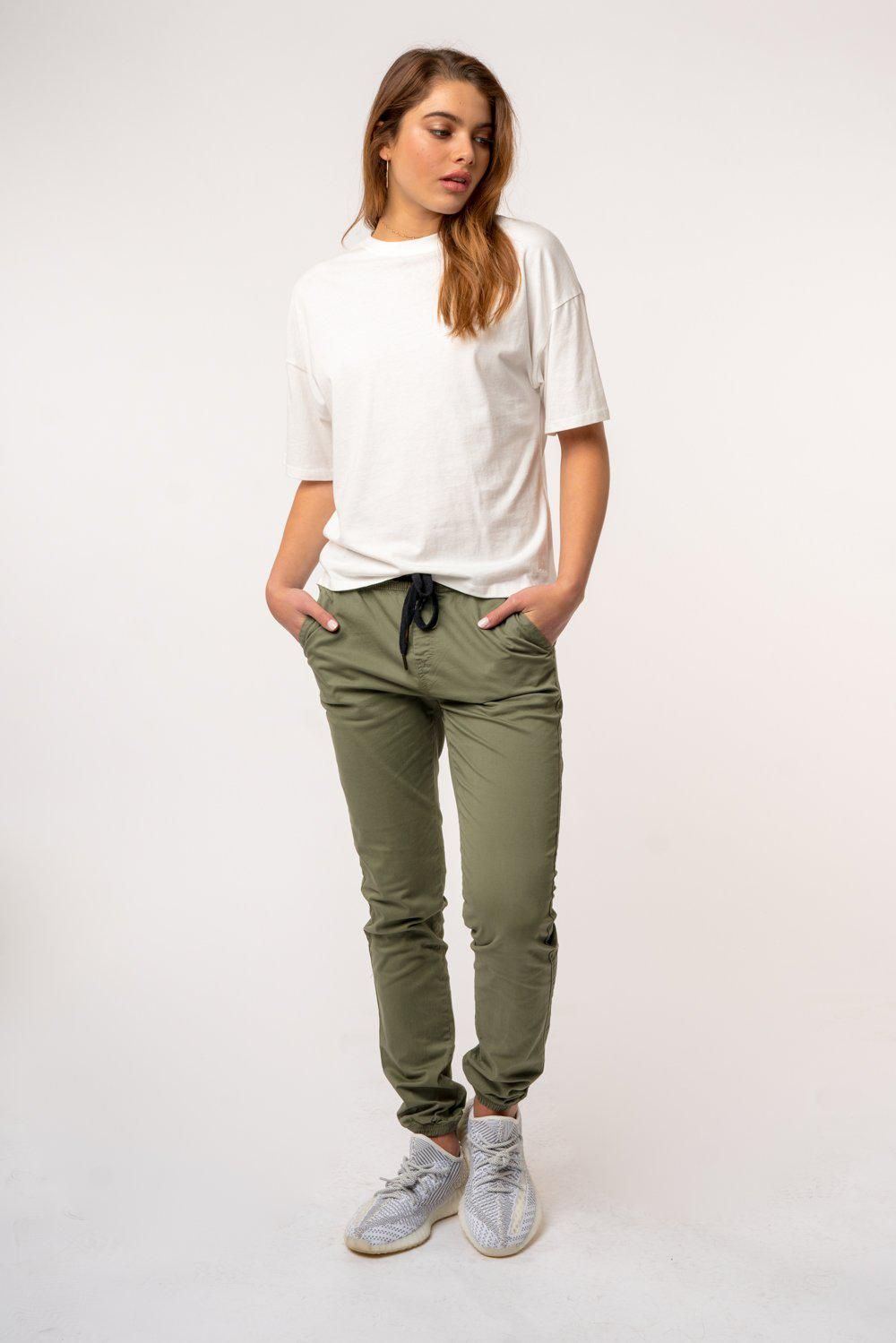 Kuwalla Tee Womens Chino Jogger-The Trendy Walrus