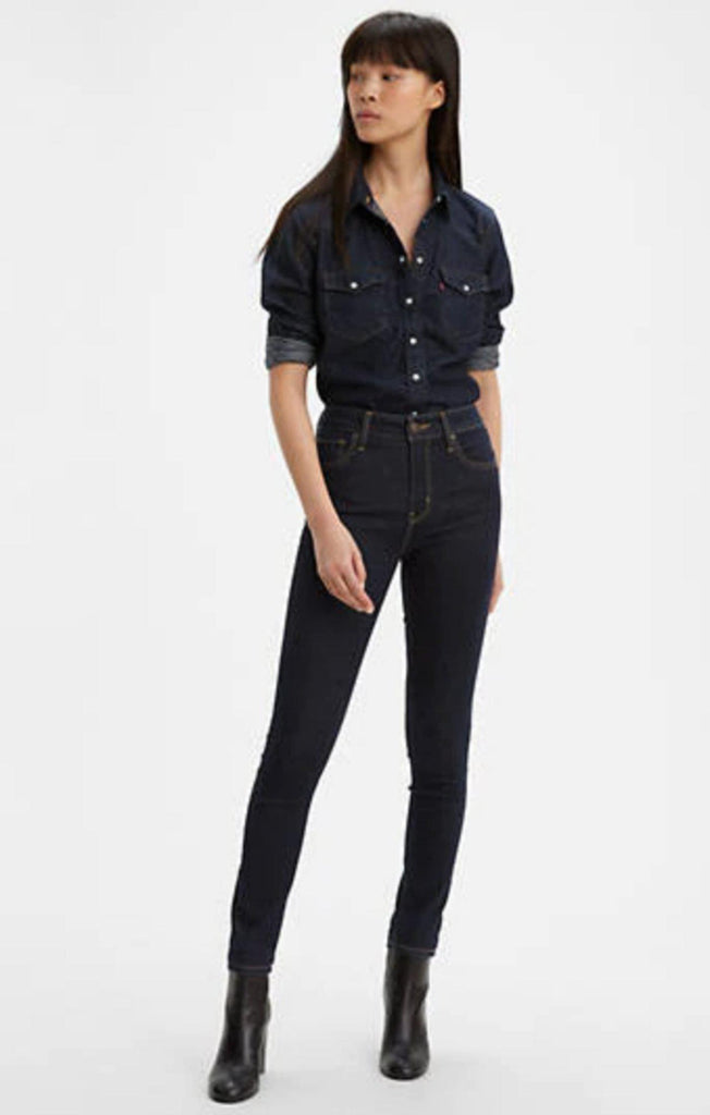 Levi's 721 Dark Wash High Rise Skinny-The Trendy Walrus