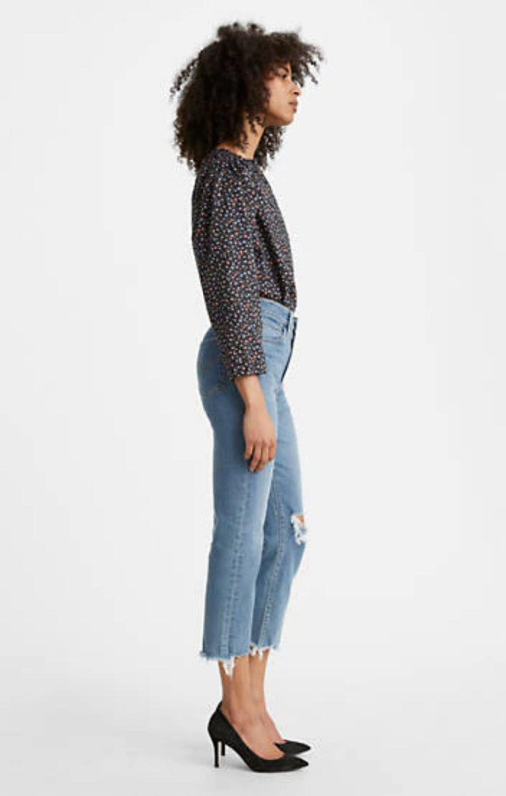 Levi's 724 High Rise Straight Crop Jeans-The Trendy Walrus