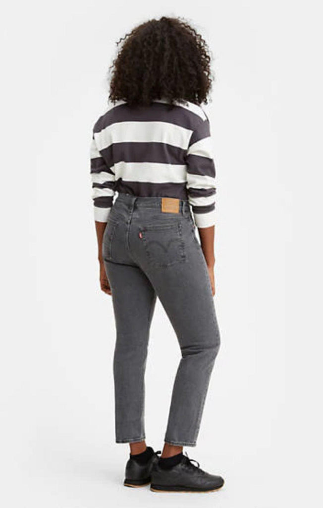 Levis Wedgie Straight Jeans in Black-The Trendy Walrus