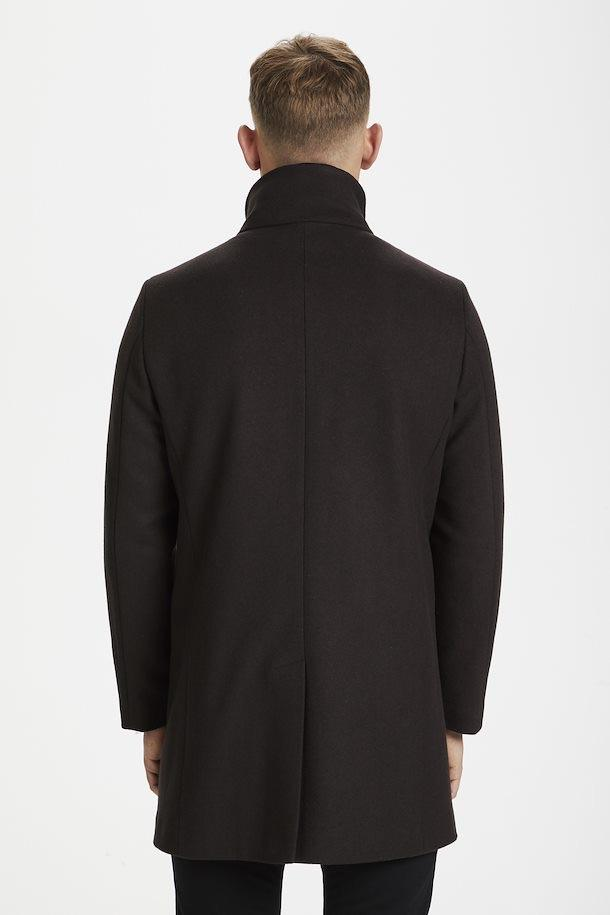 Matinique Harvey Classic Wool Coat in Dark Brown-The Trendy Walrus