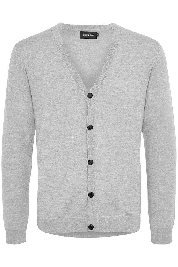 Matinique Jambon Cardigan in Grey Melange-The Trendy Walrus