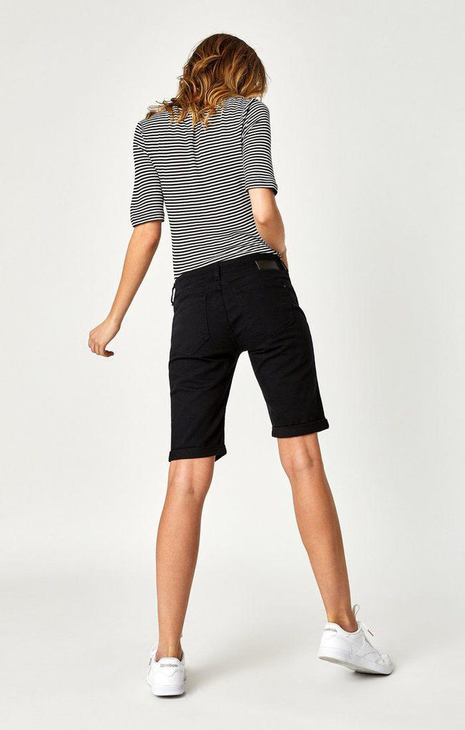 Mavi Karly Shorts in Black Nolita-The Trendy Walrus