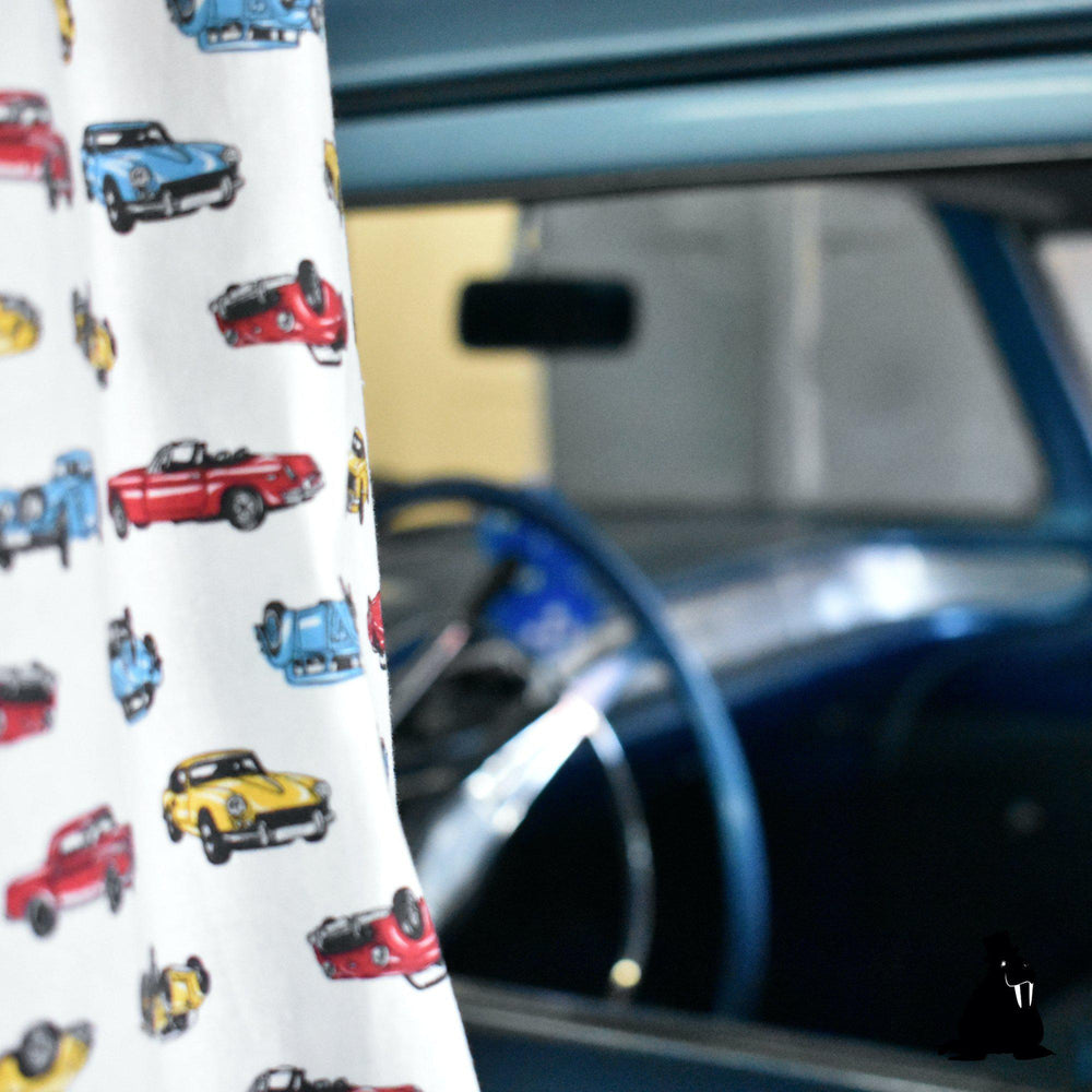 National Standards Vintage Cars Short Sleeve Button-Up-The Trendy Walrus