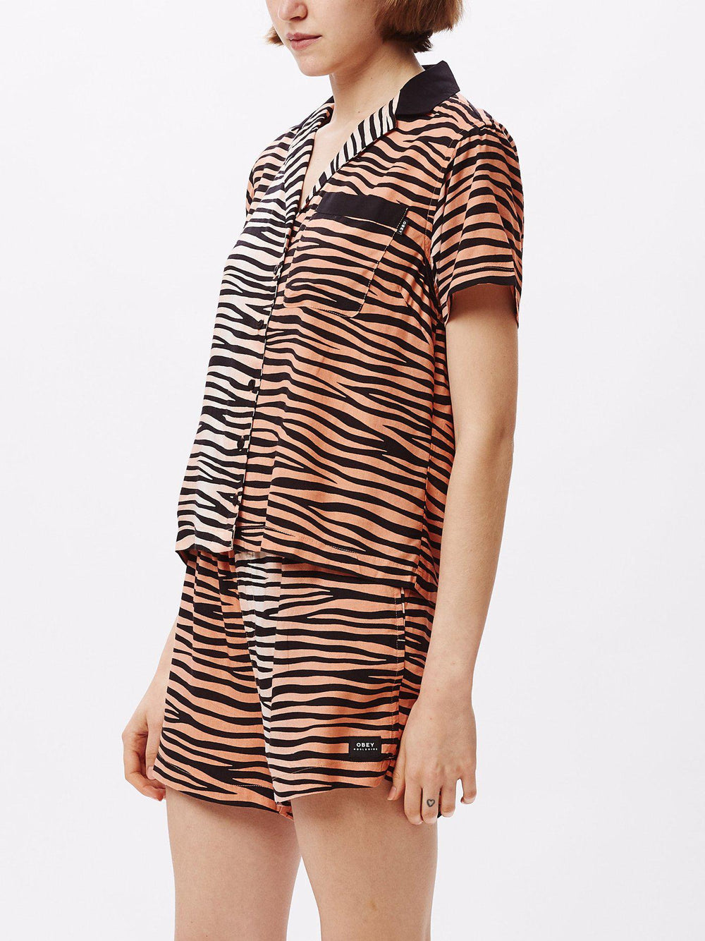 Obey Kitty Shirt Woven-The Trendy Walrus