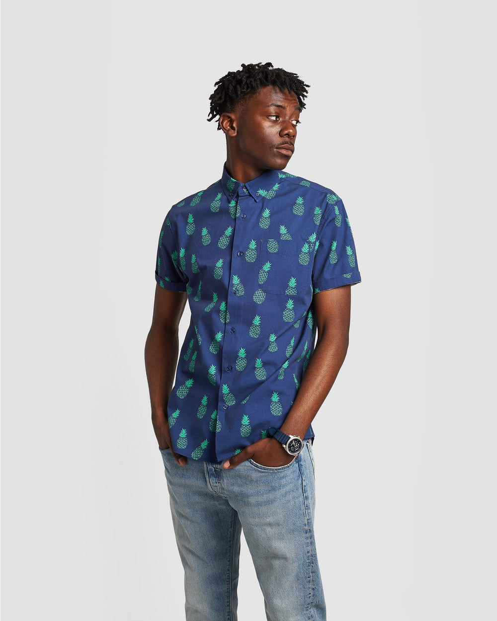 Poplin & Co Pineapple Shirt-The Trendy Walrus